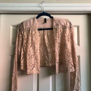 Peach lace jacket